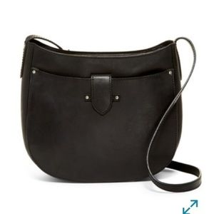 Frye Casey Large Saddle Bag Black